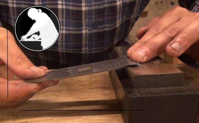 Preparing the cap iron