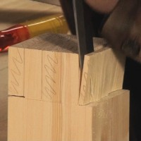 cutting a twin mortice and tenon