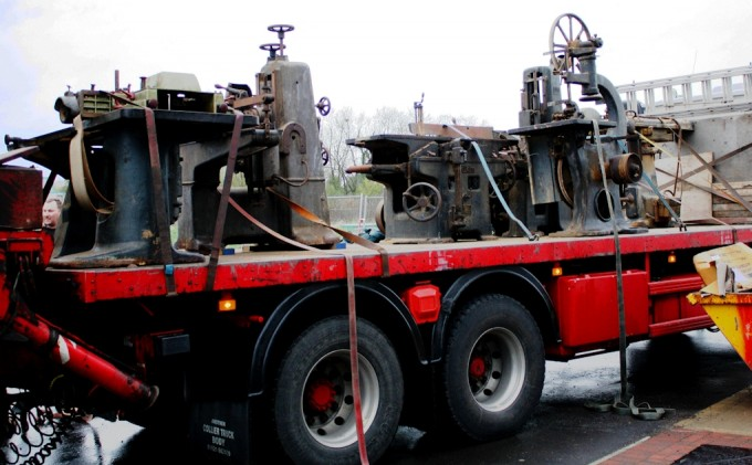 lineshaft machines on lorry