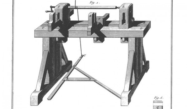 This image is from the Toolmera Press website http://toolemerablog.typepad.com/toolemera/2012/01/roubo-spring-pole-lathe-images.html