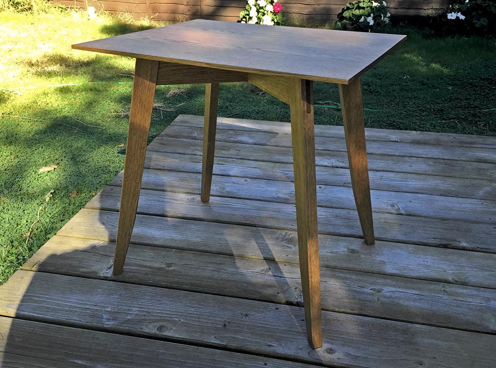 Side Table in Reclaimed Oak by Slava R