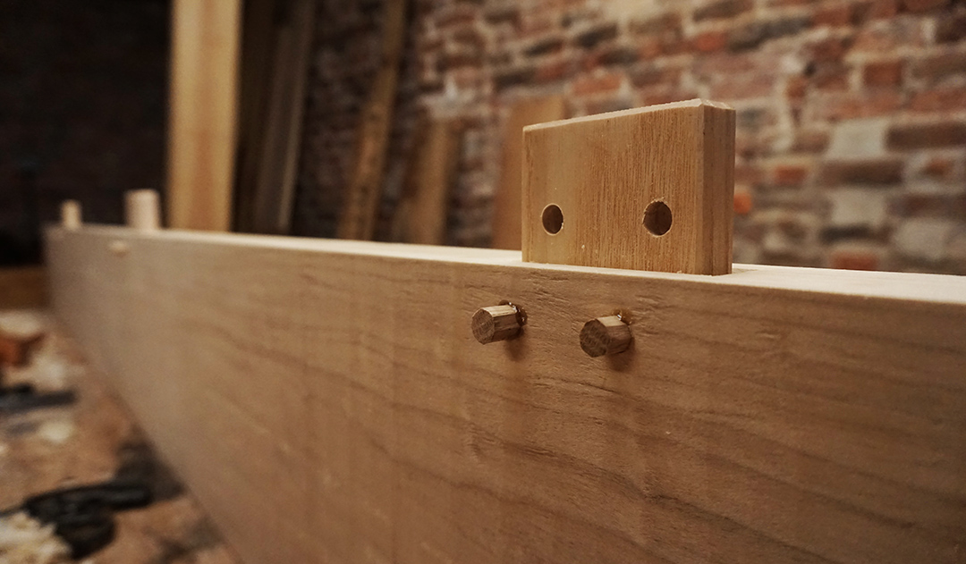 Loose tenons add extra strength when edge jointing long boards