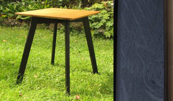 Side Table With Ebonised Base