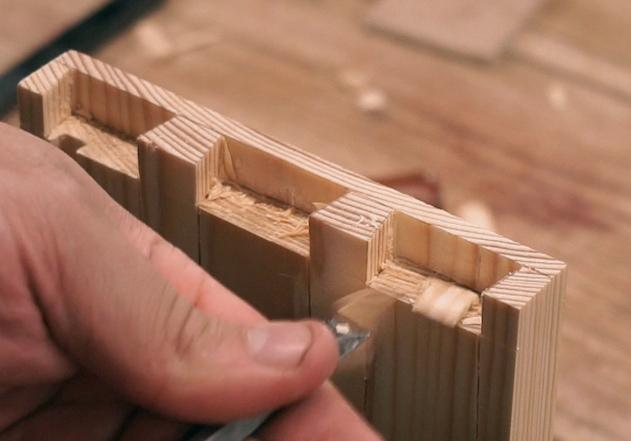 Cleaning the waste in half blind dovetail joints