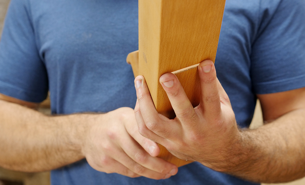 using feel to set the wooden plane
