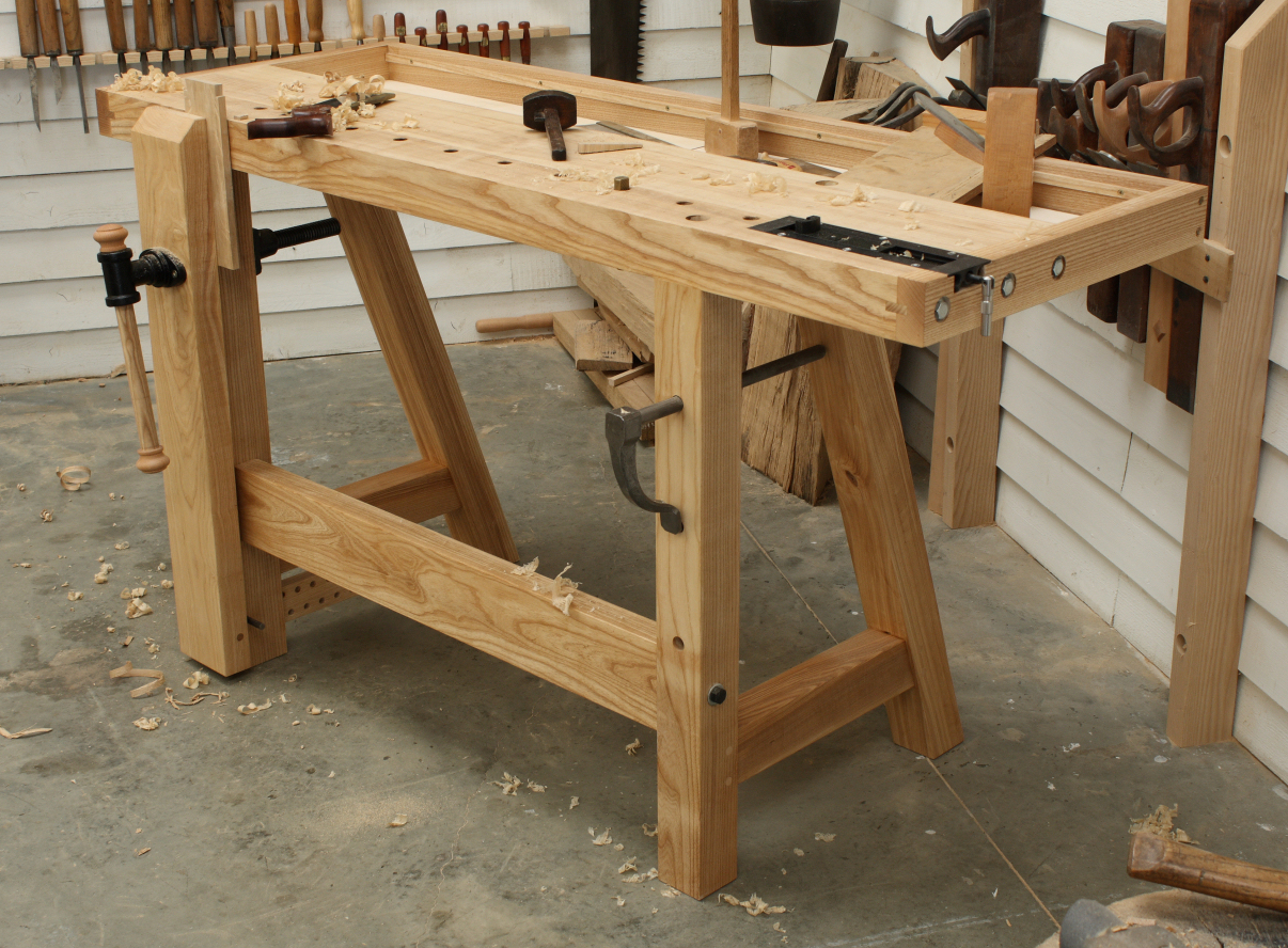 Woodworking Bench Ideas Part - 35: Traditional Hand Tool Workbench