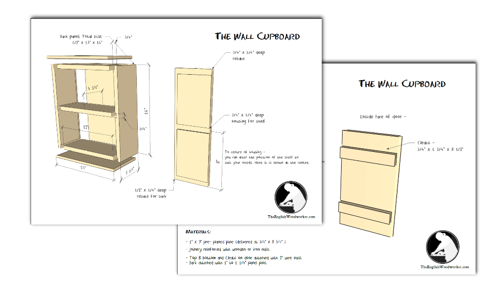 small wall cupboard plans