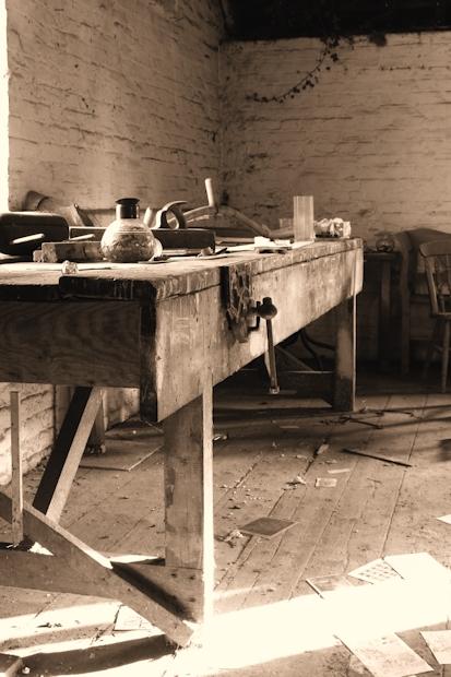 Old English Workbench