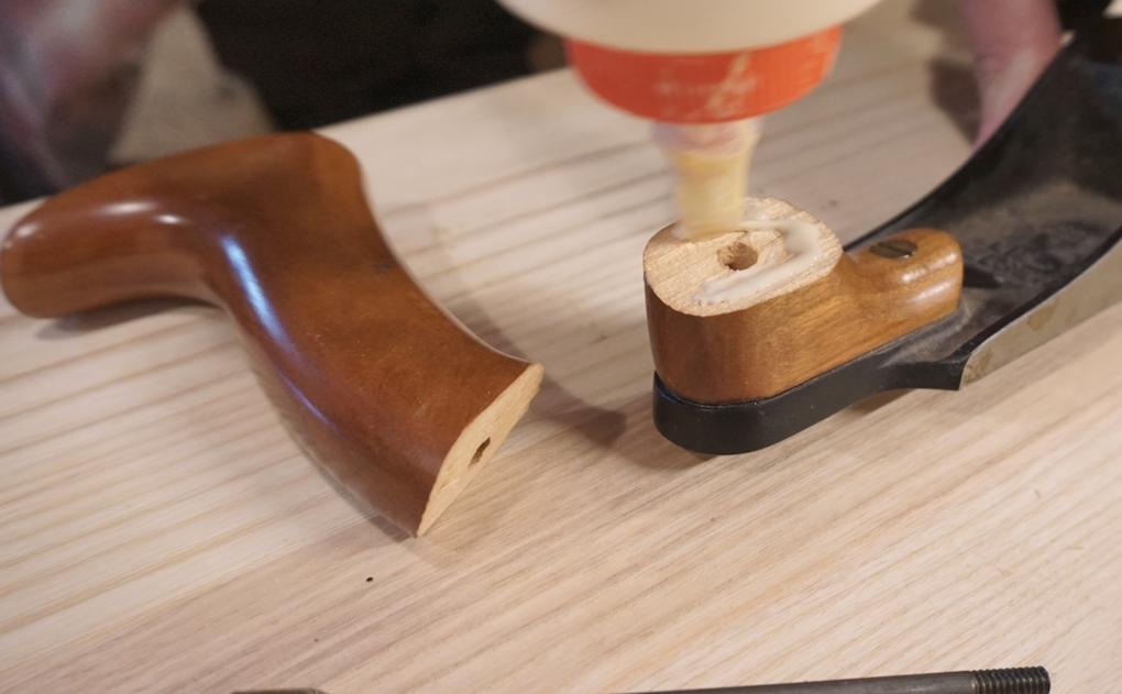Repairing hand plane handle