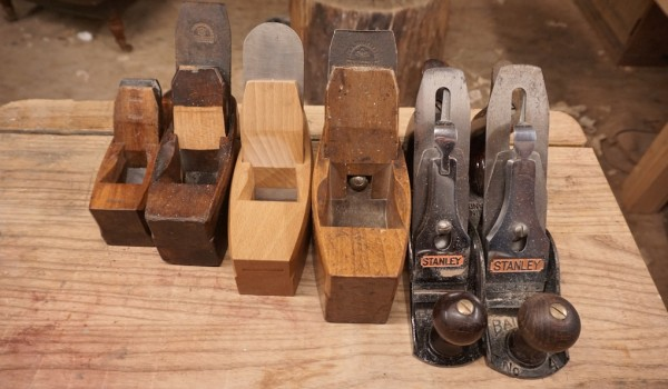 Smoothing planes wooden and metal
