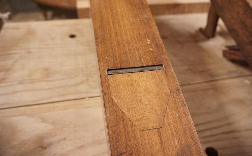 Restoring the mouth on a wooden jointer plane