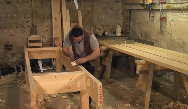 Truing the workbench frame