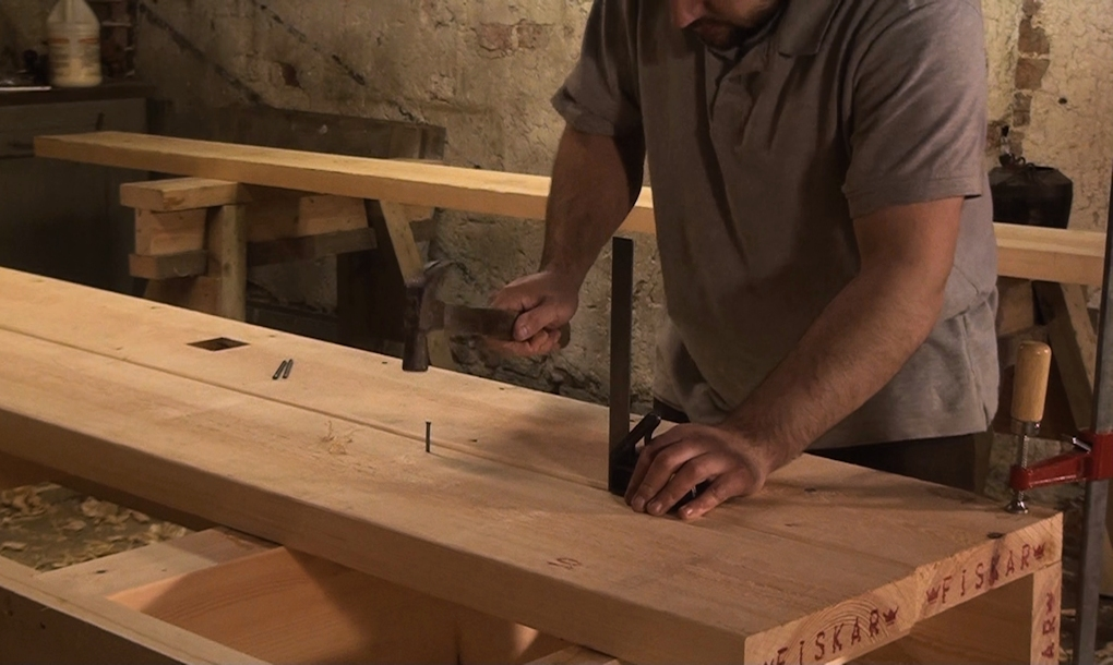Building a planked workbench top