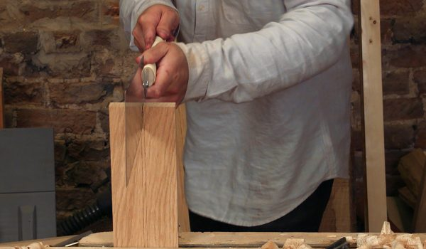 sawing to a line, repeated practise