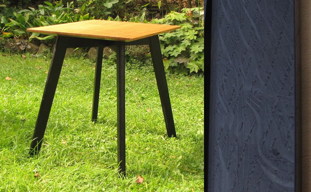 Side Table With Ebonised Base