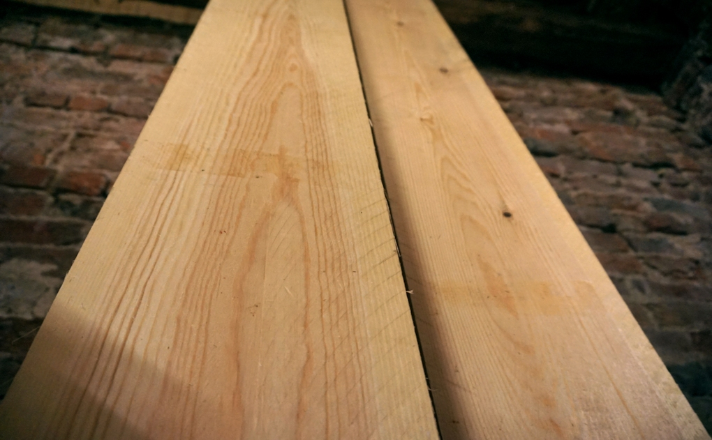 Joinery grade redwood (pine). If you're picky when you buy this stuff, you can get some decent wide and clear boards.