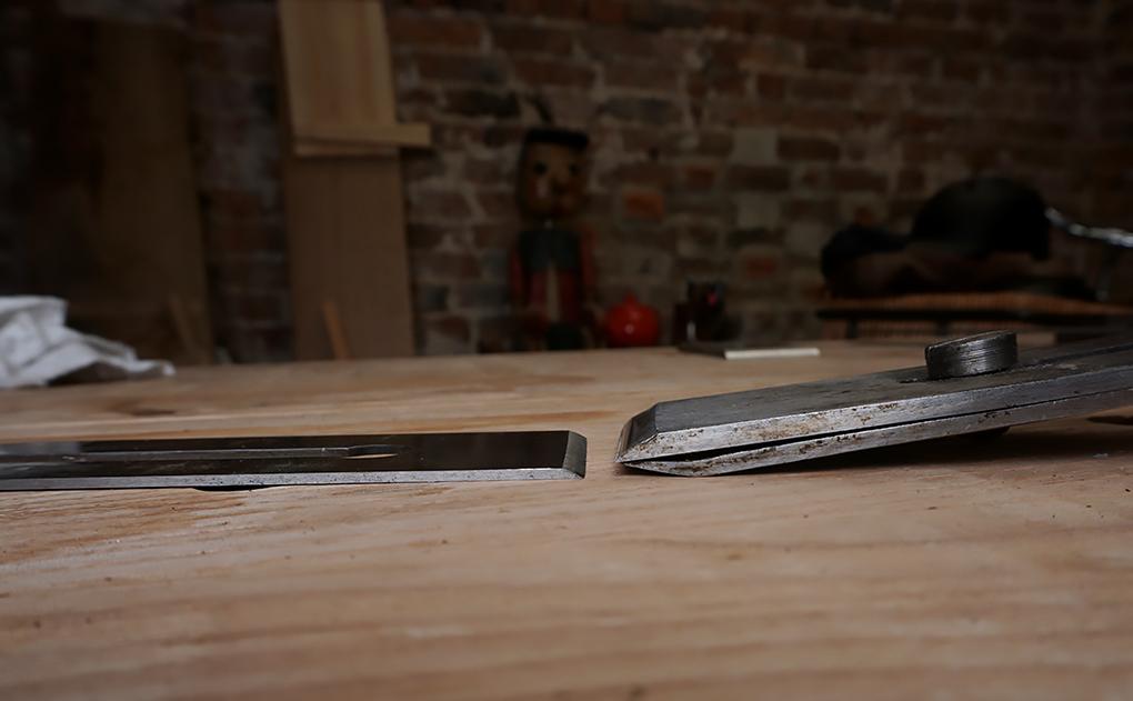 laminated wooden plane iron