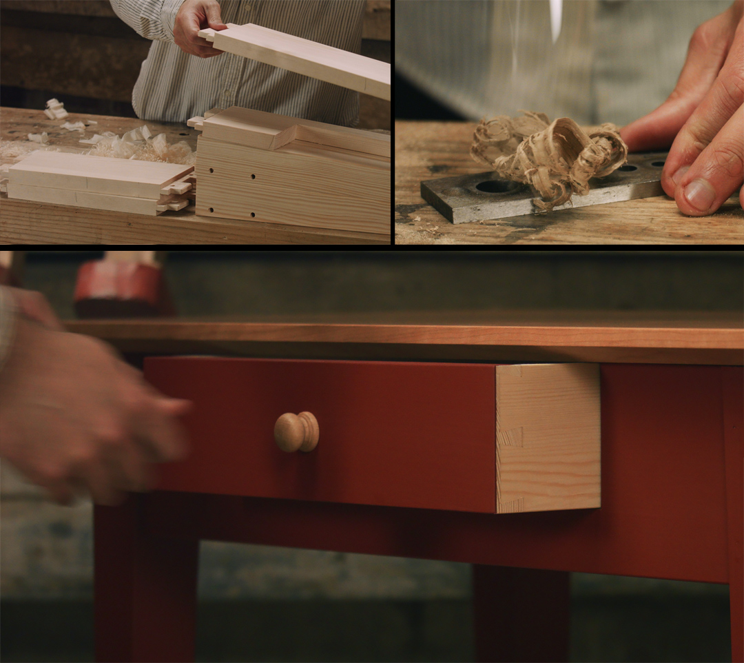 build a hall table video series