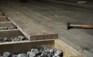 Workshop Floor From Scaffold Boards