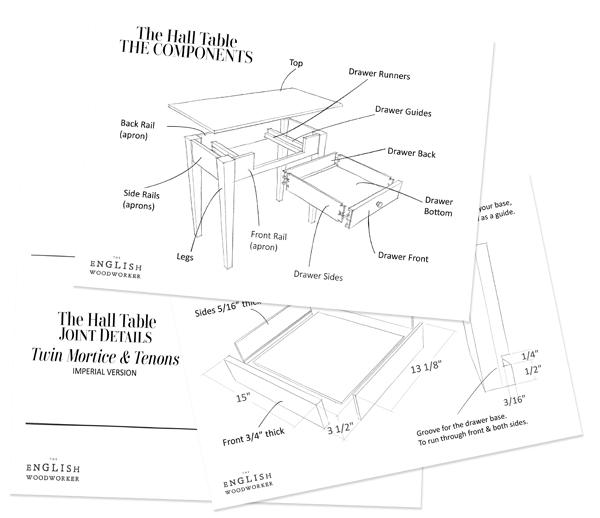 build a hall table pdf plans