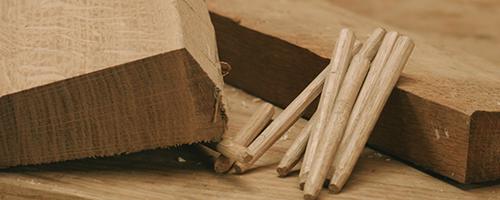 making tapered wooden pegs