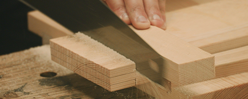 sawing tenon shoulders