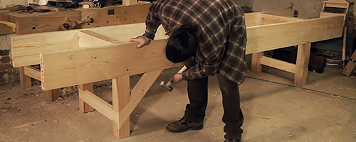 how to build a traditional English workbench