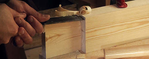 traditional workbench build with lap joints