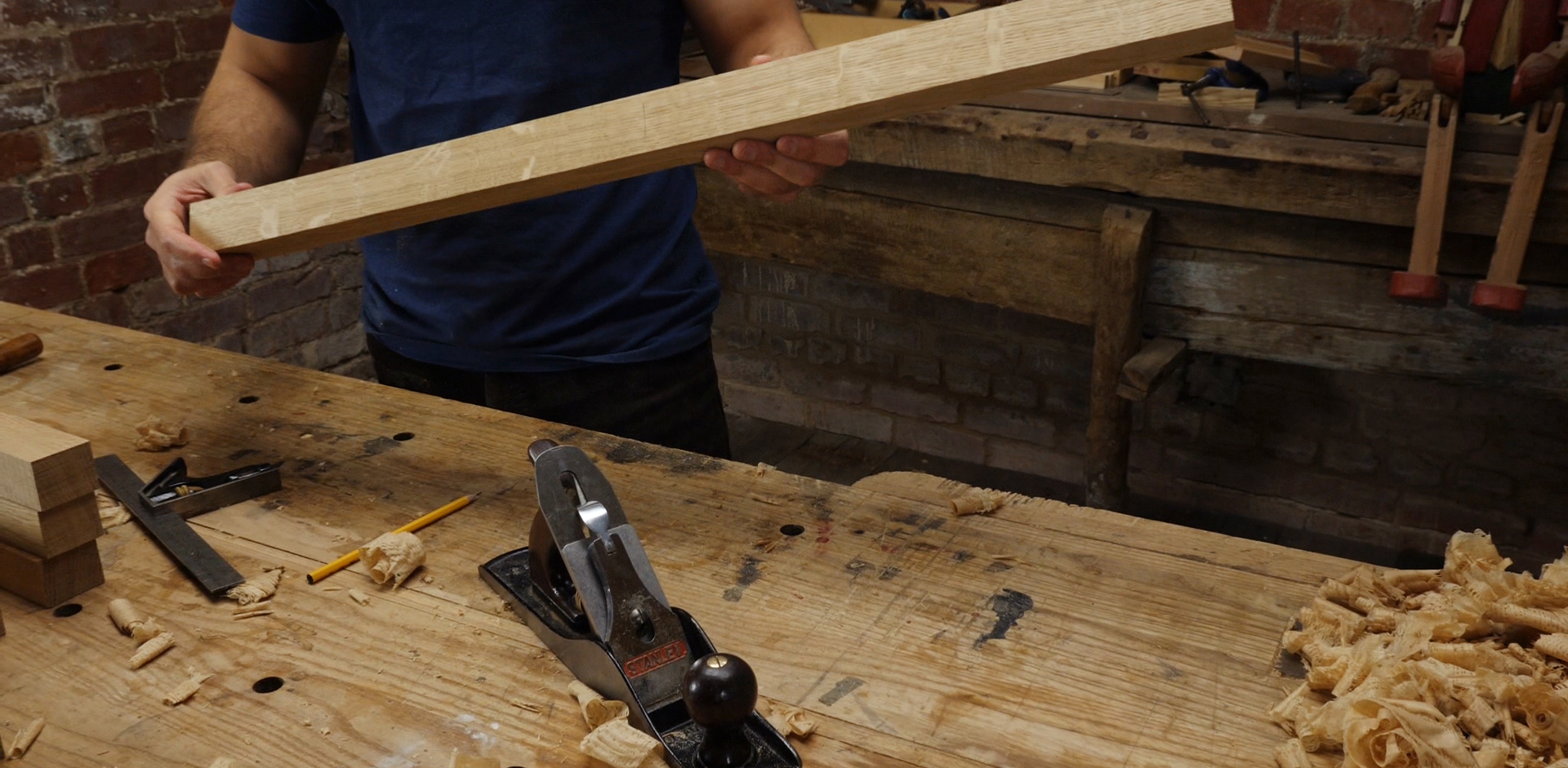 Work flow for woodworking - face vice position in front of the planing spike