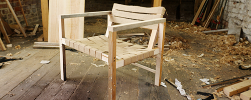 designing a comfy chair with weave