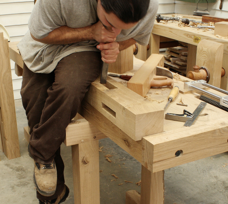 building off wooden saw horses