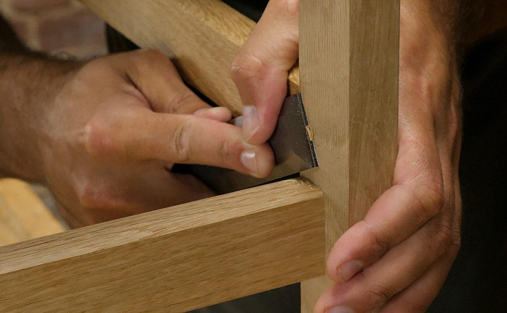 Clean exit - pegged mortice and tenon