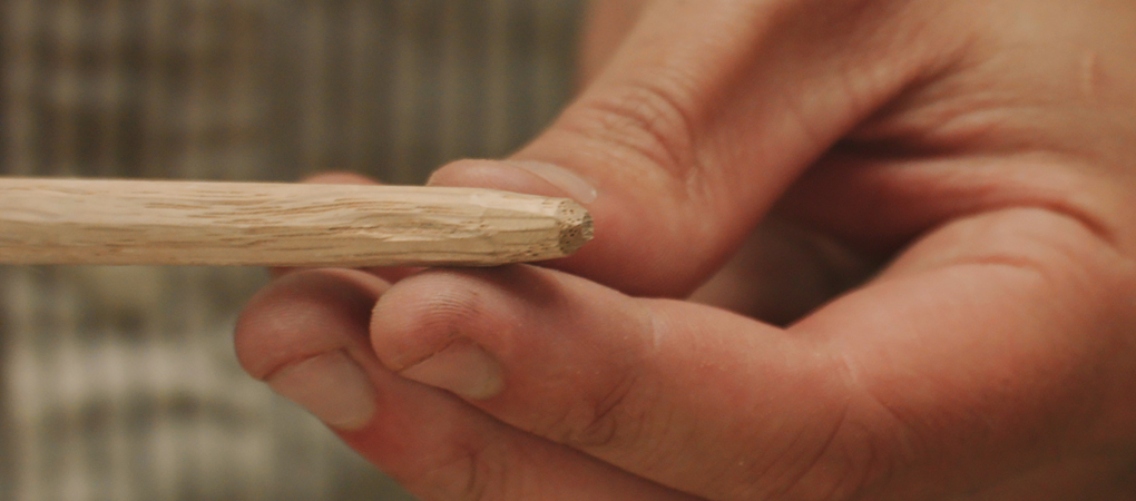 Making a tapered peg