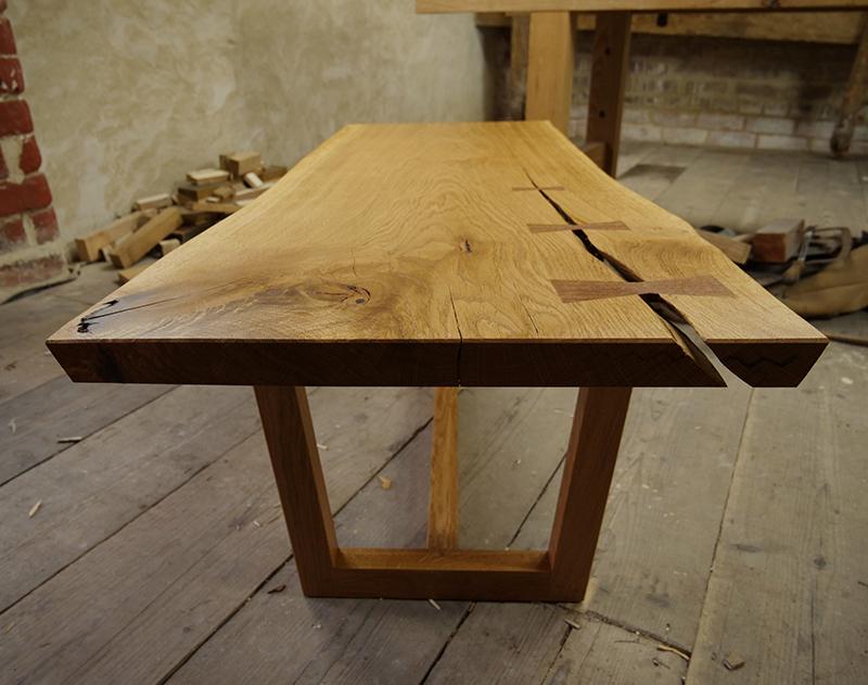 building an oak coffee table