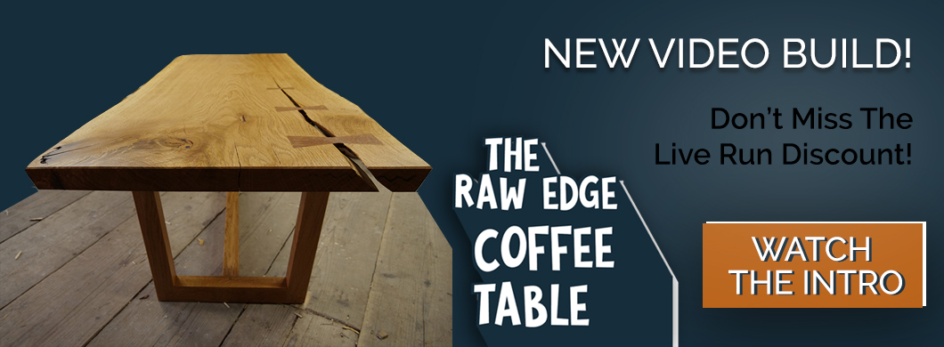 build a raw edge coffee table video