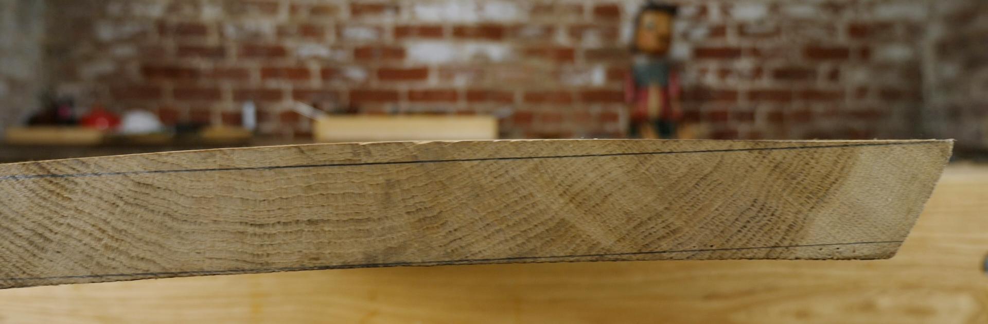 wide oak board cupped